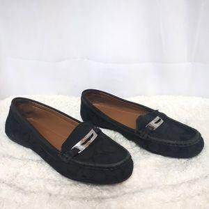 Coach Canvas Monogram Black Loafers 8